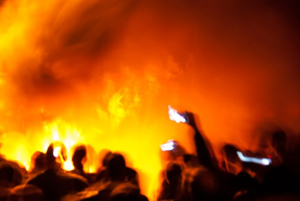 Flaming tar barrels, Ottery St Mary, Devon