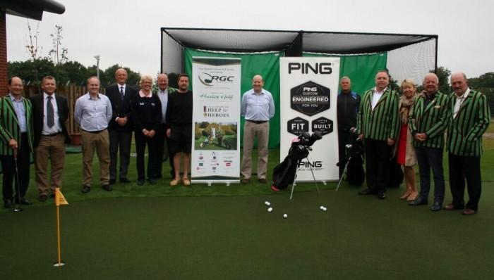 Sarah Bennett attending official golf facility opening