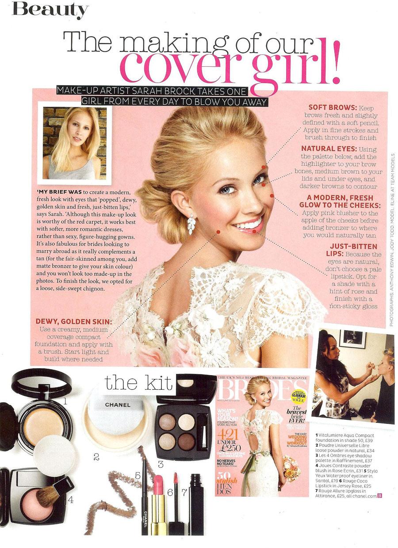 BRIDES Magazine  Award winning celebrity makeup artist  beauty film fashion  bridal