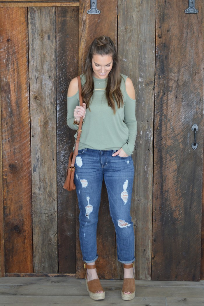 cold-shoulder tee