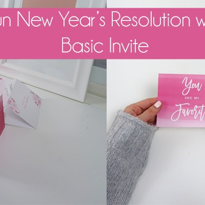 A Fun New Year's Resolution with Basic Invite