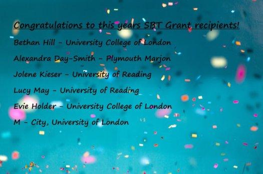 SBT Student Grant Recipients 2019