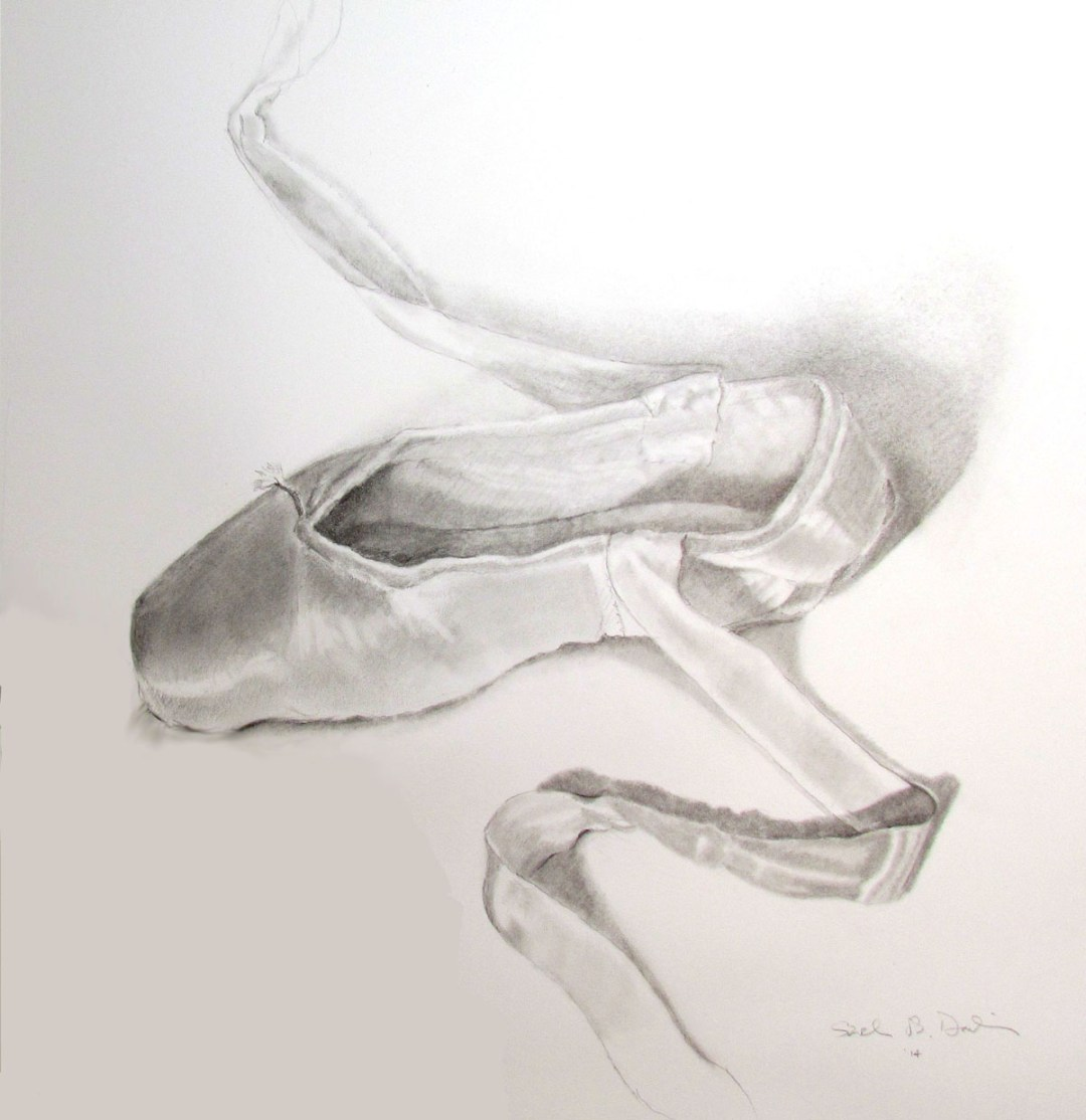 ballet slipper drawing