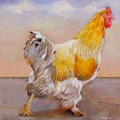 print of hen
