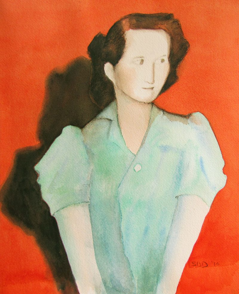 abstract of young woman