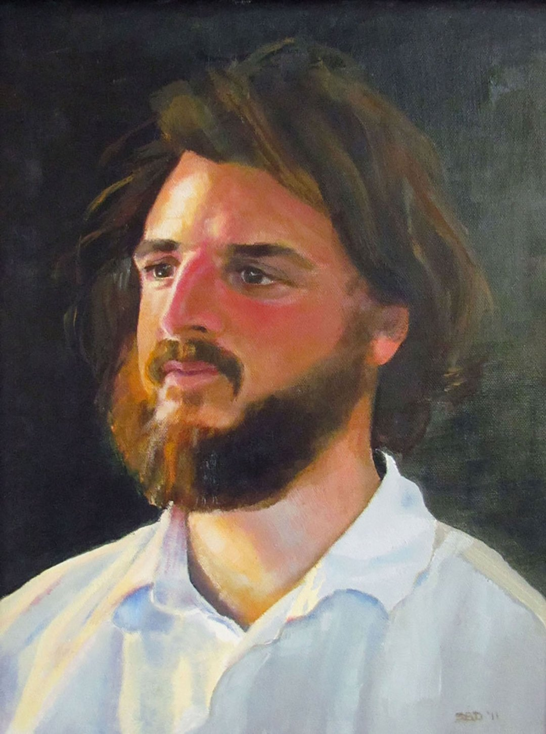 OIL PAINTING OF YOUNG MAN