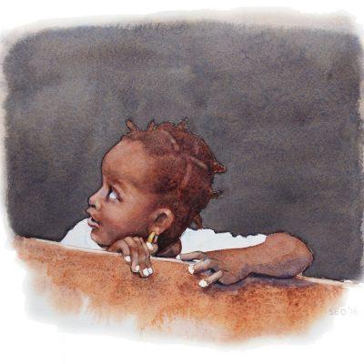little Caribbean girl