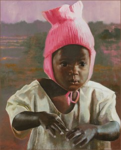 oil painting of Ugandan girl
