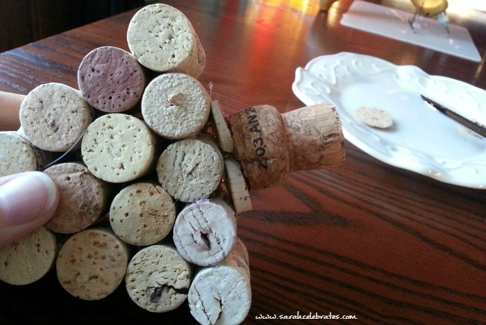 Wine Cork Tree - Making the trunk |Sarah Celebrates