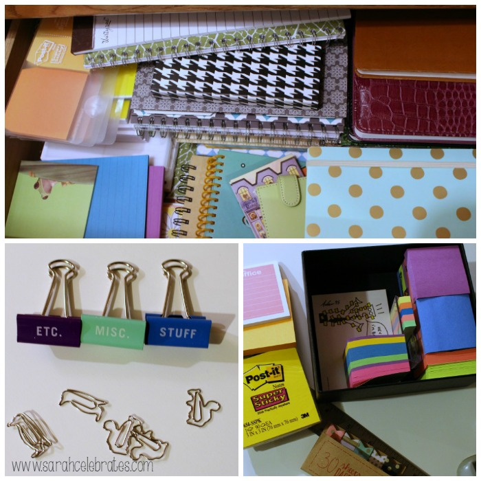 52 Lists 2015 - List 7 - Must Have Office Supplies, clips and paper | Sarah Celebrates