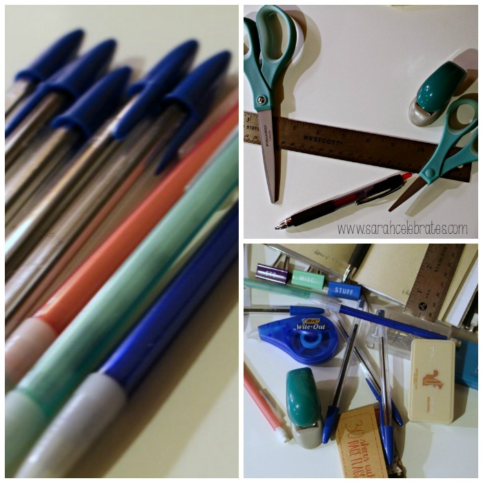 52 Lists 2015 - List 7 - Must Have Office Supplies, pens,stuff and ruler | Sarah Celebrates