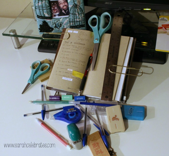 52 Lists 2015 - List 7 - Must Have Office Supplies | Sarah Celebrates