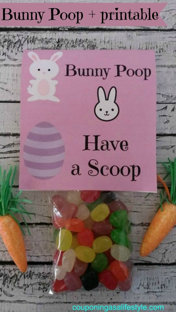 Bunny Poop Printable, Couponing as a Lifestyle - A #2usestuesday Feature