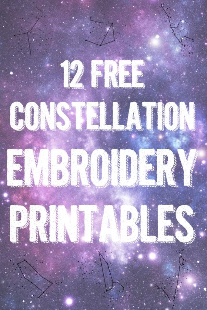 12-Free-Constellation-Embroidery-Pattern-Printables, DIY Budget Girl - A #2usestuesday Feature