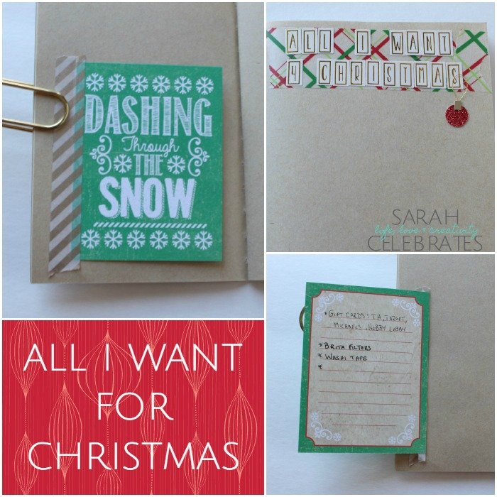 Christmas 2015 Memory Book - All I Want For Christmas | Sarah Celebrates