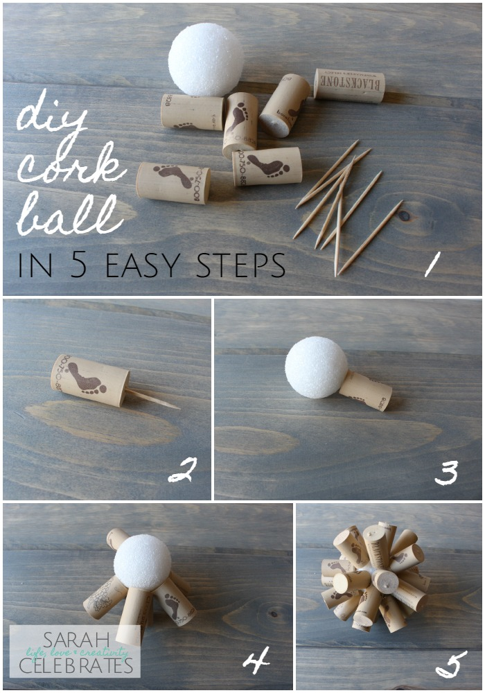 DIY Corkball How To | Sarah Celebrates