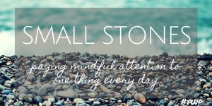 Small Stones, paying mindful attention to one thing every day - inspired by asmallstone.com