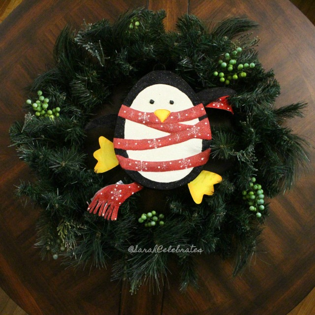 1 2 3 Christmas Wreath-Add Cuteness | Sarah Celebrates