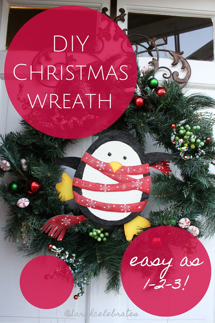 DIY Christmas wreath, easy as 1-2-3! | Sarah Celebrates