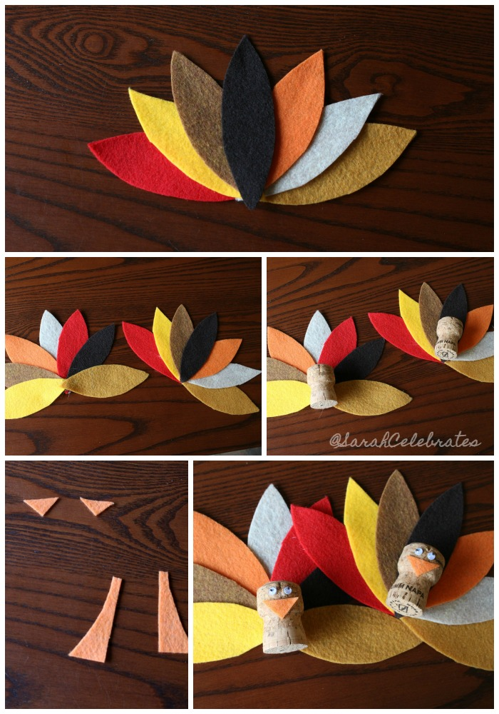 Thanksgiving Turkeys-Assemble your turkey #30minutecrafts | Sarah Celebrates