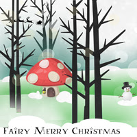 Fairy Merry Christmas button