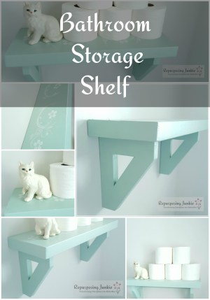 Above-the-Toilet-Shelf-for-Toilet-Paper-Storage-Collage | A #2usestuesday Feature