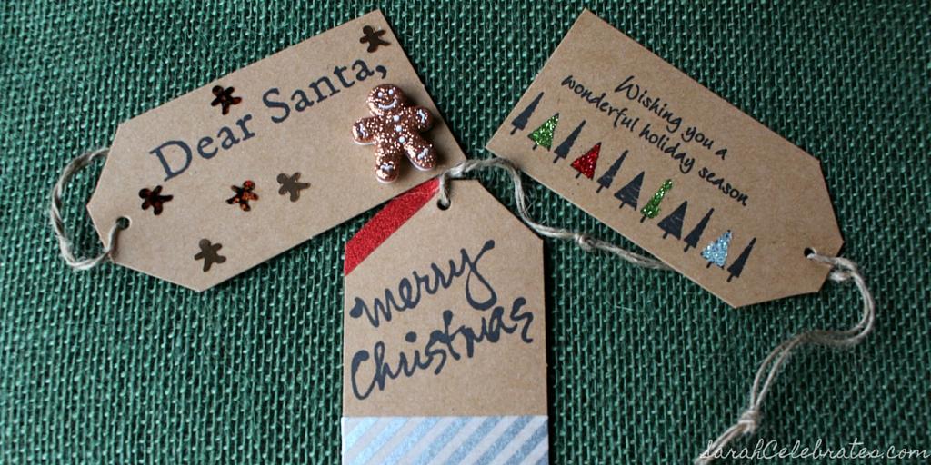 DIY Christmas Tags | Sarah Celebrates #30MinuteCrafts