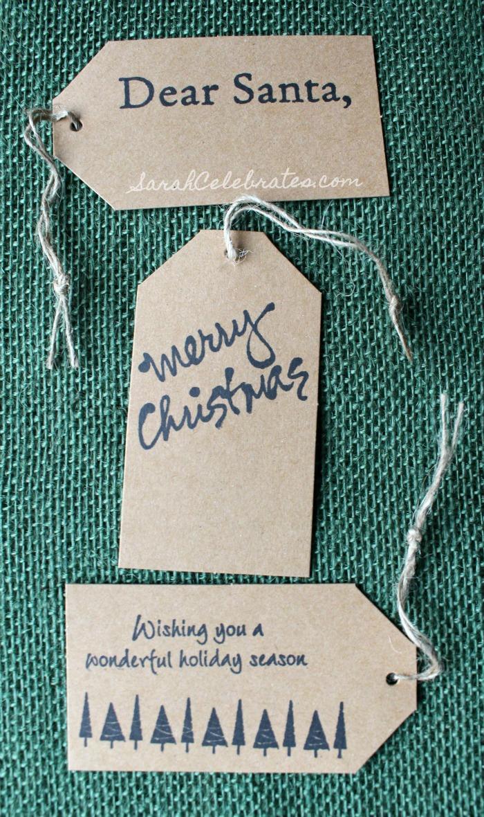 DIY Christmas Tags-Simply Stamped | Sarah Celebrates #30MinuteCrafts