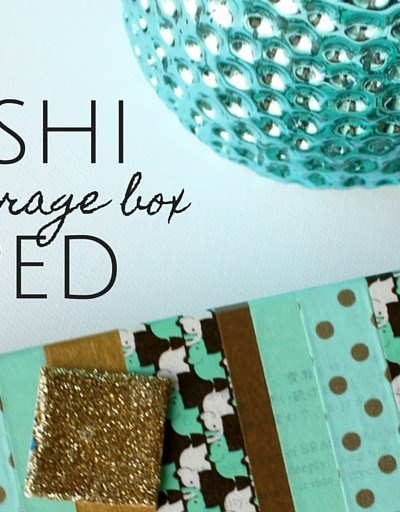 Washi Taped Inchie Storage Box
