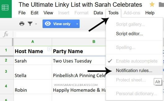 Join the Ultimate Linky List with Sarah Celebrates - Setting Notifications, Tools, Notifications