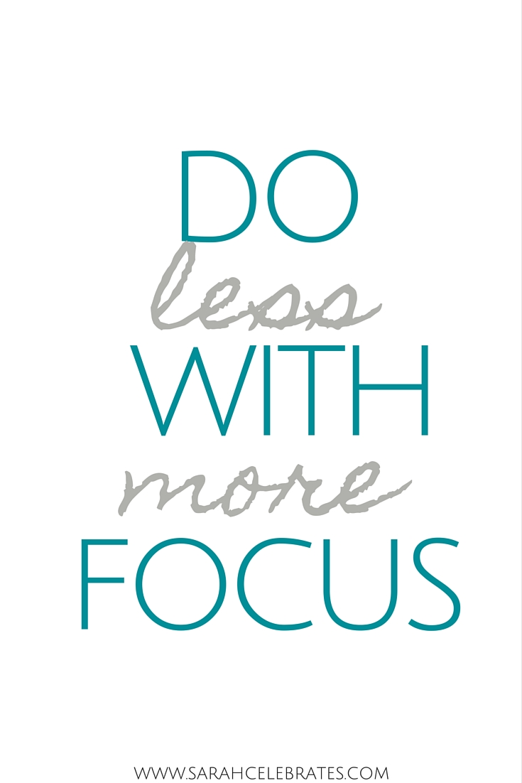 do less with more focus #MondayMotivation