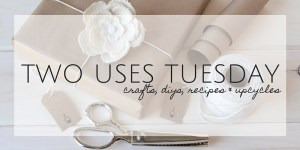 Two Uses Tuesday | A linkup party to share your crafts, DIYs, recipes & upcycles
