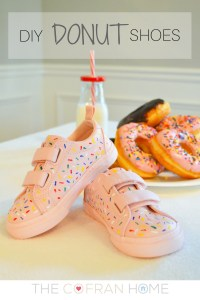DIY Donut Sprinkle Shoes