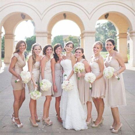 Bridesmaids robes courtes