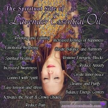 Spiritual benefits of lavender essential oils