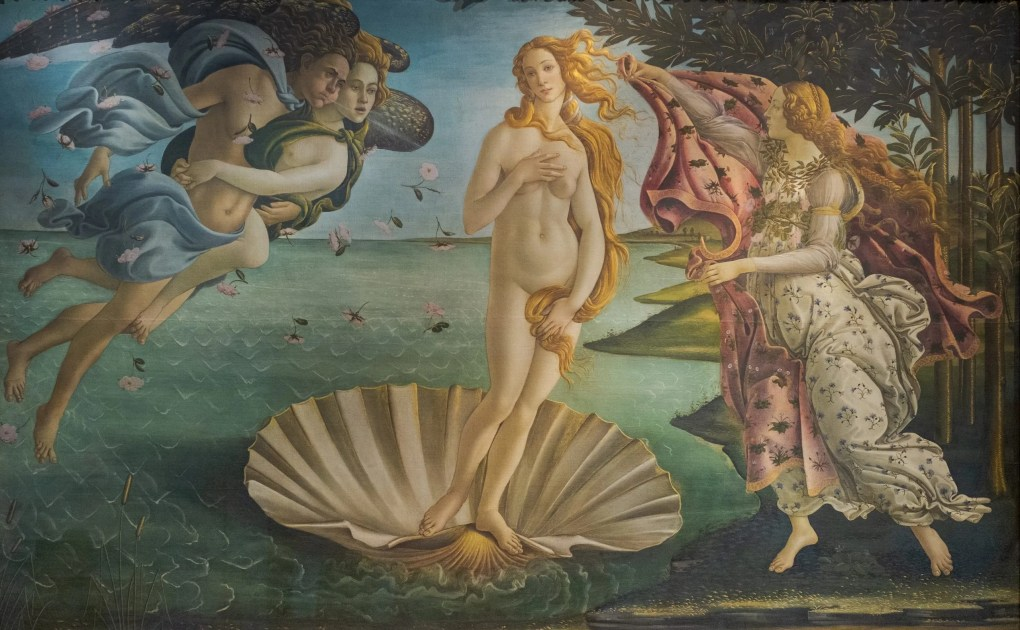 he birth of Venus by Botticelli