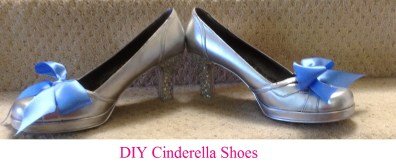 Cinderella shoes diy