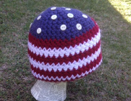 4th of July American Flag Beanie