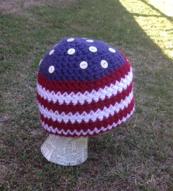 4th of July American Flag Beanie