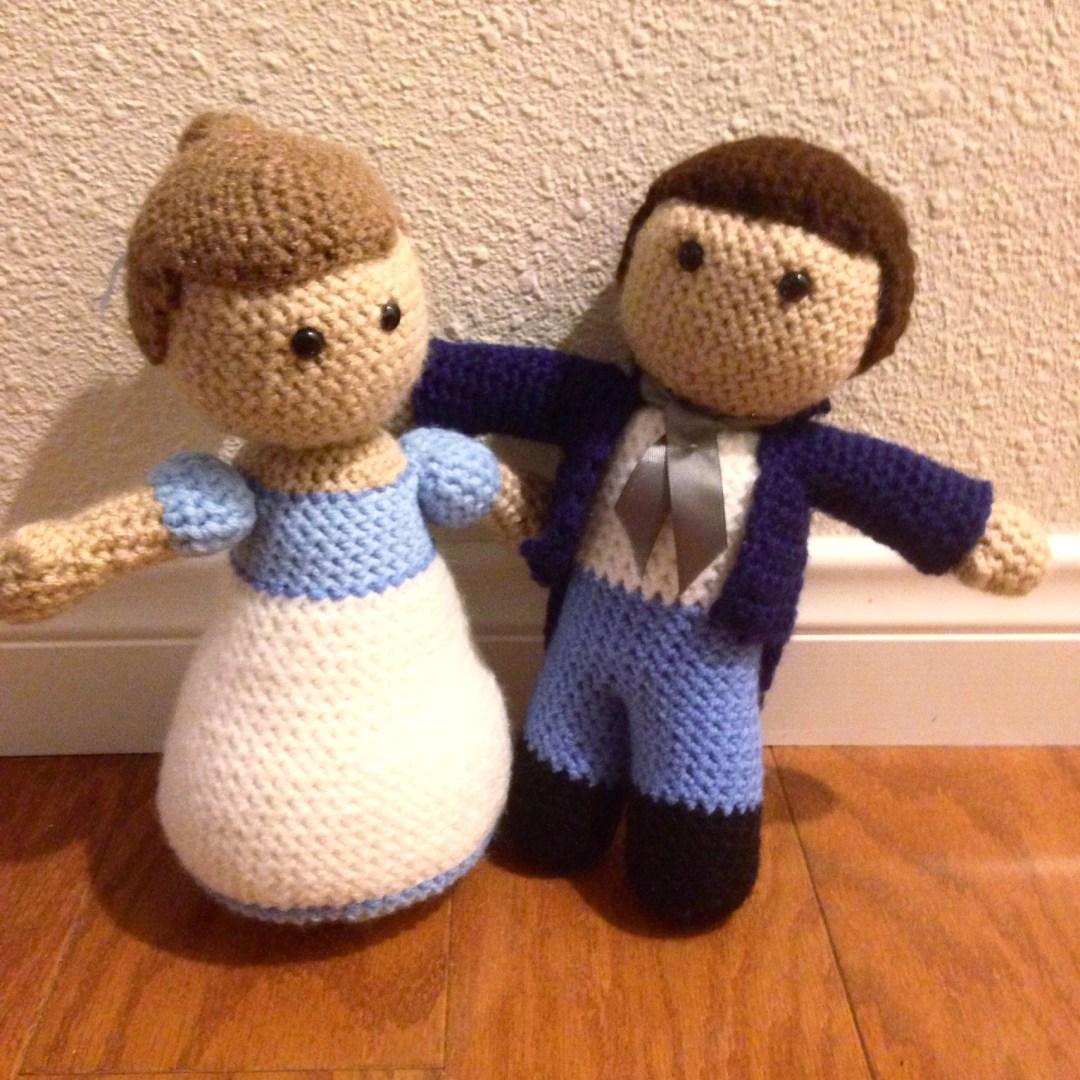 Mr. Darcy and Elizabeth Bennet crochet pattern