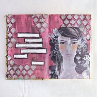 That Look of Otherness Art Journal Page by Sarah Donawerth