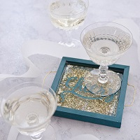Cheers! Glitter Party Platter