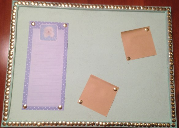 $3 Cork Board Makeover