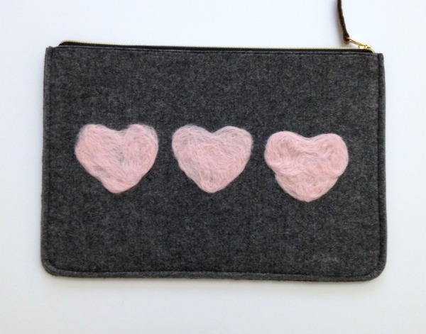 Heart Felted Clutch