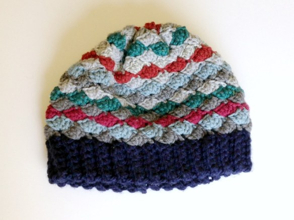 Yarn Remnants Project: Fan Stitch Beanie