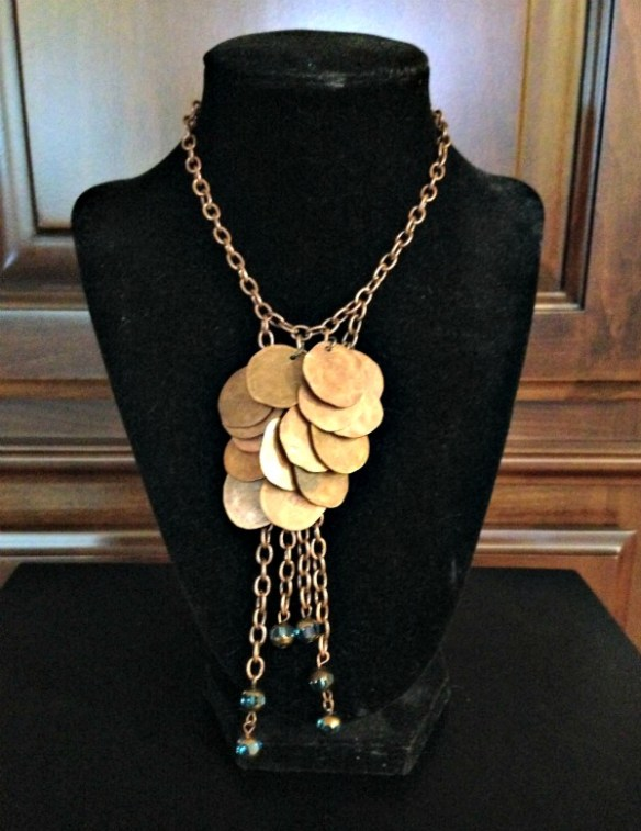 Hammered Penny Boho Chic Necklace