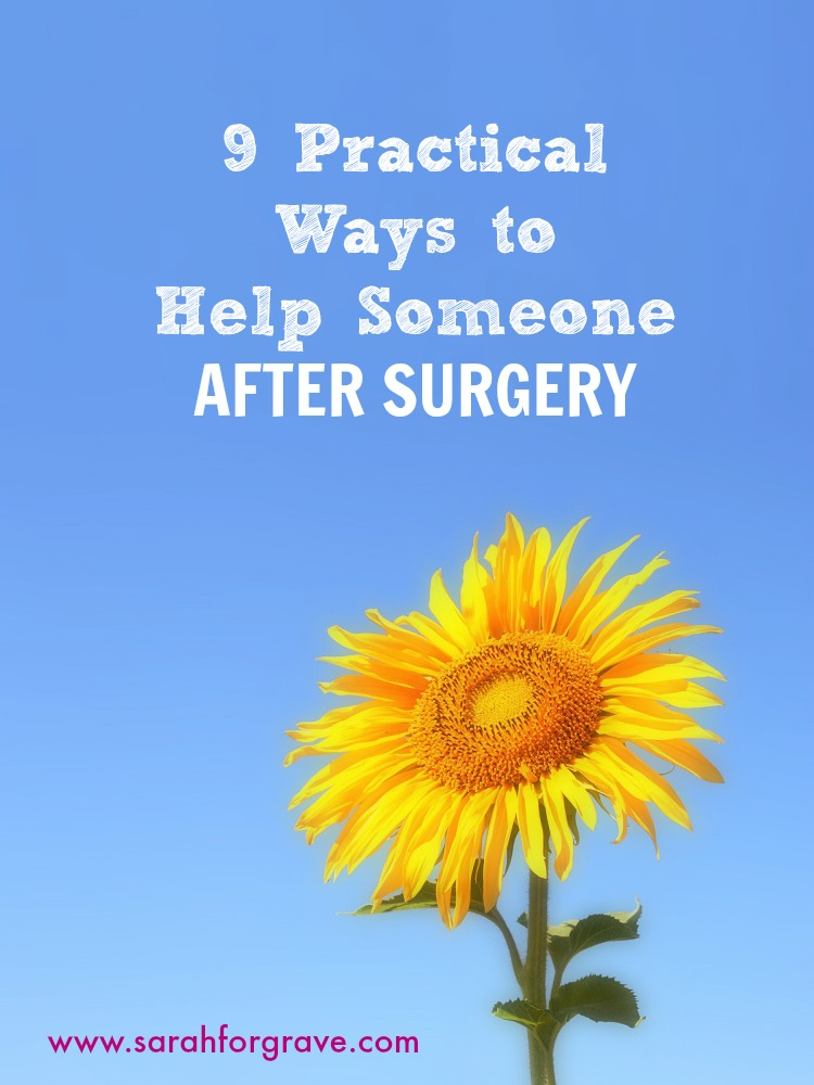 9 Practical Ways to Help Someone After Surgery