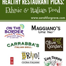 Healthy Restaurant Picks: Ethnic and Italian Food