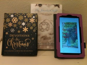 The Christmas devotionals I'm using this year.