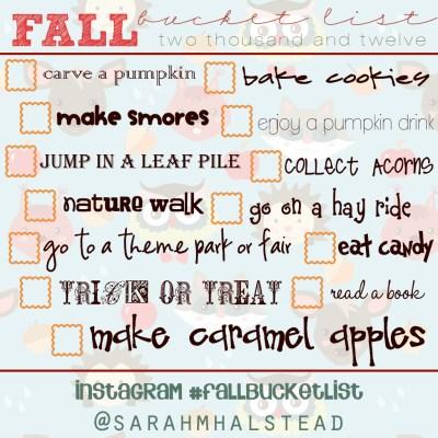 Fall Bucket List | Free Download